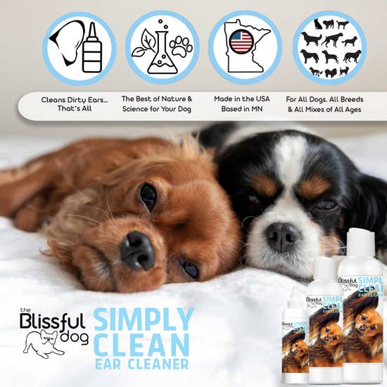 The Blissful Dog - Simply Clean Dog Ear Cleaner 8 oz - Bulletproof Pet Products Inc