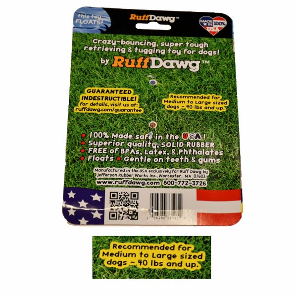 DAWG NUT XL - DOGS 40 LBS PLUS - BY RUFF DAWG - Bulletproof Pet Products Inc