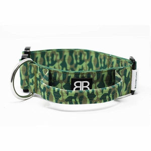 "Bully Billows 1.5"" (4CM) Combat Collar with handle - Green Camo - Bulletproof Pet Products Inc"