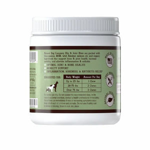HIP & JOINT SUPPLEMENT - BY NATURAL DOG COMPANY - 90 CHEWABLE SUPPLEMENTS - Bulletproof Pet Products Inc