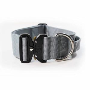 "Bully Billows 2"" (5CM) Combat Collar with handle - Indestructibone Gray - Bulletproof Pet Products Inc"