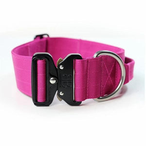 "Bully Billows 2"" (5CM) Combat Collar with handle - Magenta - Bulletproof Pet Products Inc"