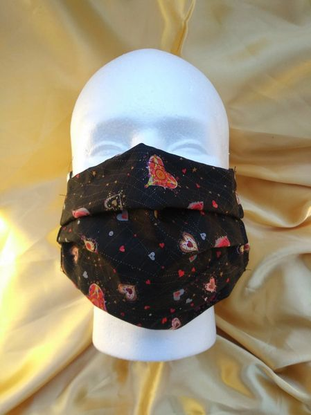 HANDCRAFTED MASK -COSMIC HEARTS - WITH FILTER POCKET - Bulletproof Pet Products Inc