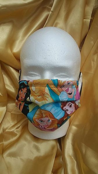 HANDCRAFTED MASK -DISNEY FABRIC - WITH FILTER POCKET - Bulletproof Pet Products Inc