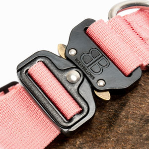 "Bully Billows 1.5"" (4CM) Combat Collar with handle - Pink - Bulletproof Pet Products Inc"