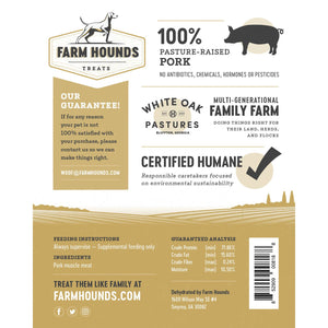 FARM HOUNDS PORK JERKY - PASTURE RAISED PORK - 3.5 oz - Bulletproof Pet Products Inc