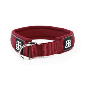 Bully Billows - 4cm Ramsey Range - Burgundy Dog Collar - Bulletproof Pet Products Inc