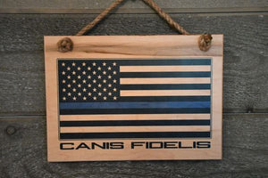 THIN BLUE LINE - CANIS FIDELIS SIGN - Bulletproof Pet Products Inc