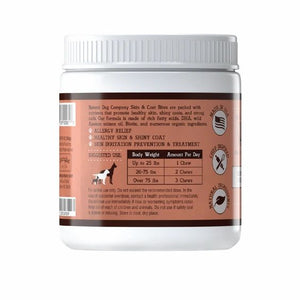 SKIN & COAT SUPPLEMENT - BY NATURAL DOG COMPANY -90 CHEWABLE SUPPLEMENTS - Bulletproof Pet Products Inc