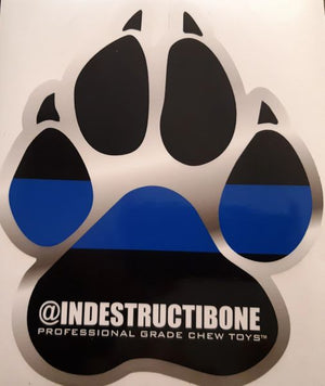 LARGE VINYL THIN BLUE LINE PAW STICKER - Bulletproof Pet Products Inc