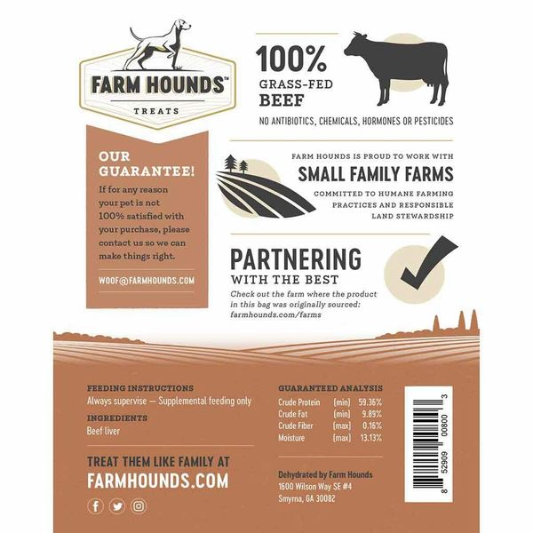 FARM HOUNDS BEEF LIVER - MADE IN THE USA - Bulletproof Pet Products Inc