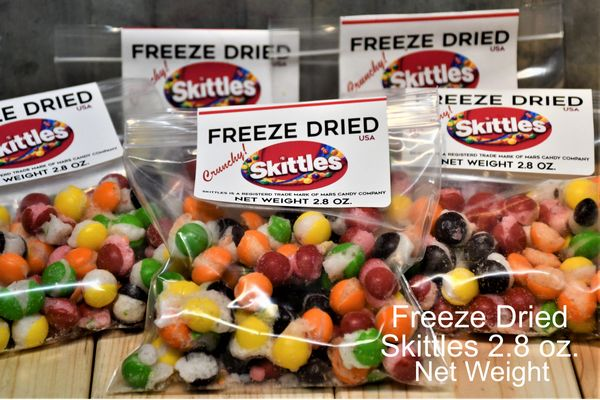 FREEZE DRIED SKITTLES - 2.8 OZ BAG (ONE BAG) - Bulletproof Pet Products Inc
