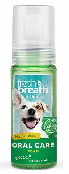 TropiClean Fresh Breath Fresh Mint Foam 4.5 oz. - Bulletproof Pet Products Inc