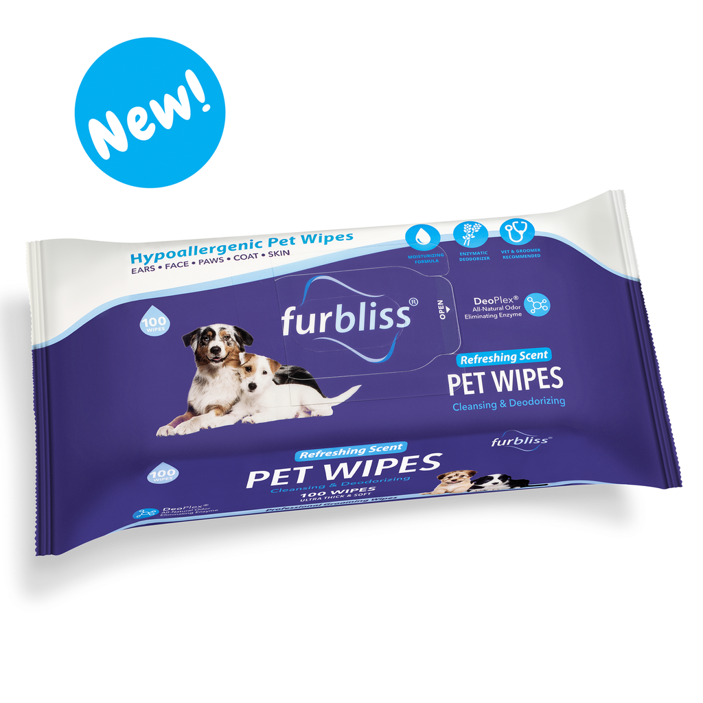 FURBLISS® HYGIENIC GROOMING PET WIPES - 100 CT - Bulletproof Pet Products Inc