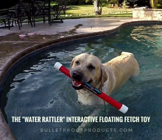"Water Rattler - Interactive Floating Fetch Toy 18"" - Bulletproof Pet Products Inc"