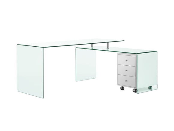 3 PIECE DESK w/MOBILE FILE