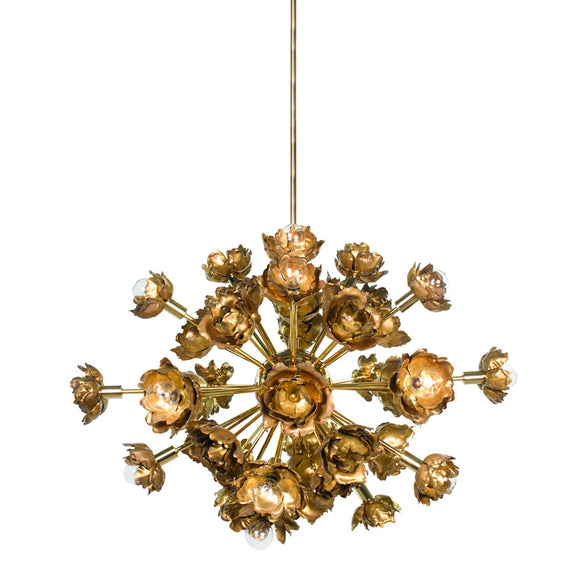 GOLD 22 LIGHT CHANDELIER