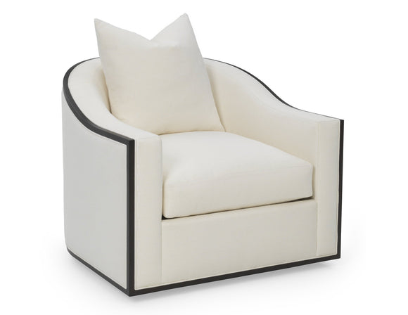 WOOD TRIM SWIVEL CHAIR