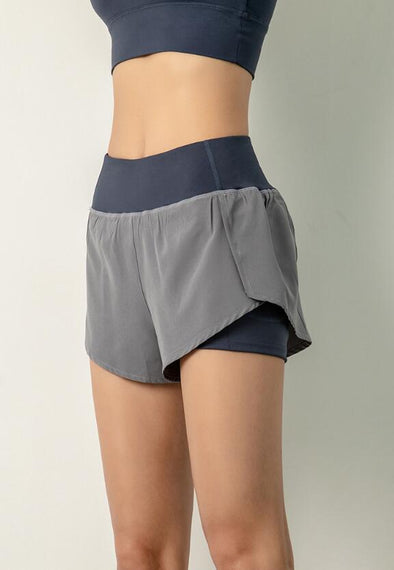 Breathable Fitness Shorts with Hidden Pocket