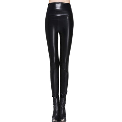 Hot High Waist PU Leather Leggings