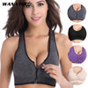 Zipper Push Up Sports Bra