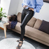 Elastic Waist PU Leather Leggings