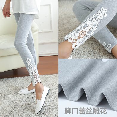 Women Side Lace Fashion Leggings