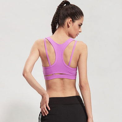 Breathable Padded Push Up Sports Bra