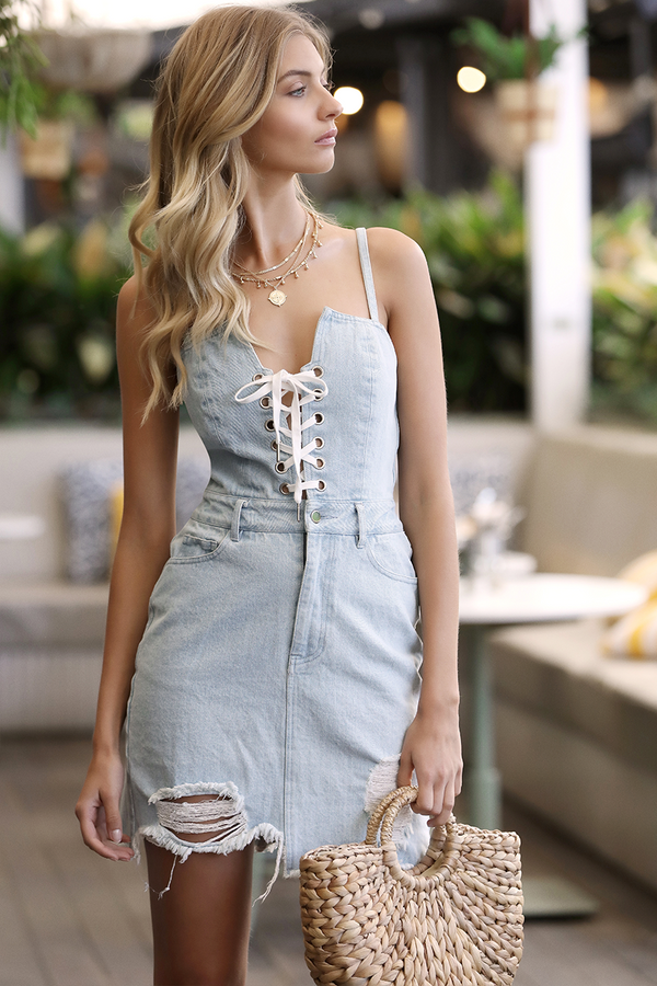 Heart Racin Denim Dress by Runway the Label