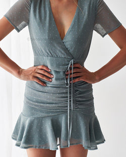 Mira Dress in Sage by Two Sisters the Label