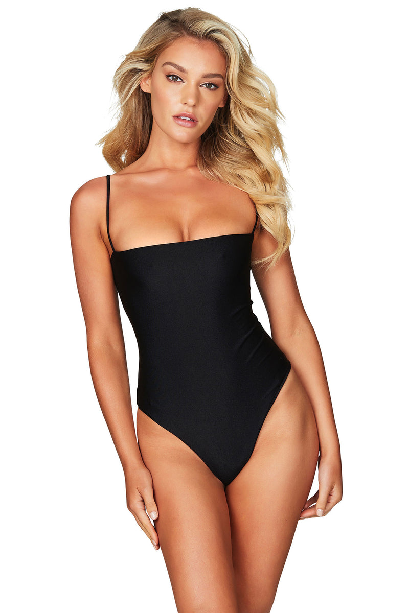 Amazon Tie Back One Piece in Black by Nookie