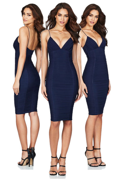 Ambition Midi Dress in Navy by Nookie