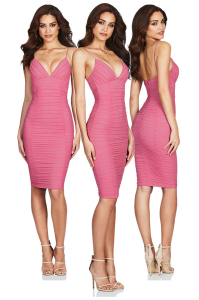 Ambition Midi Dress in Hot Pink by Nookie the Label