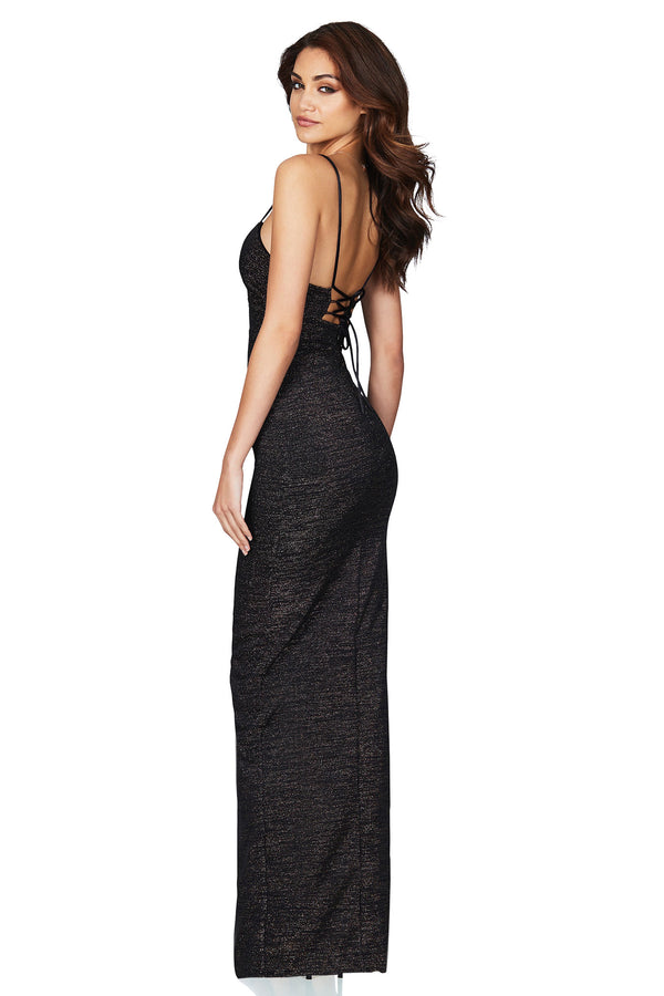 Aura Gown in Black by Nookie