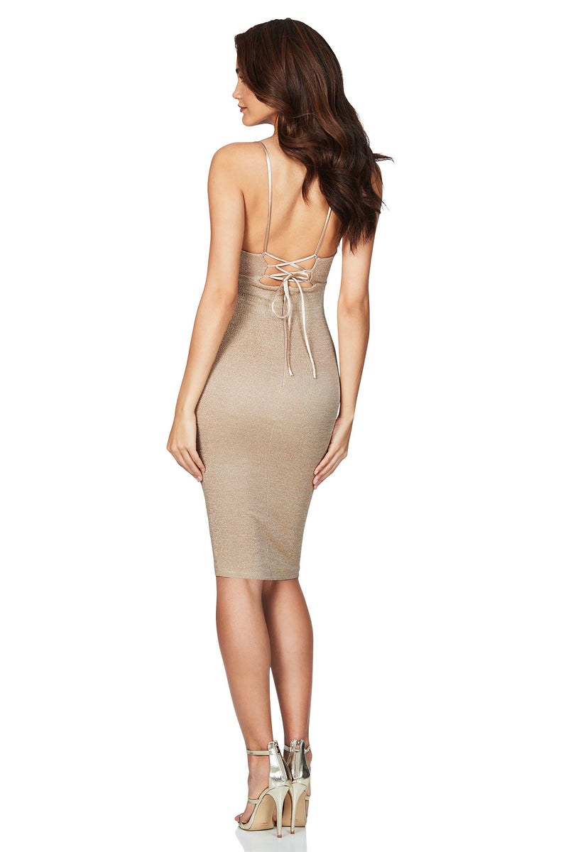 Aura Midi in Light Gold by Nookie