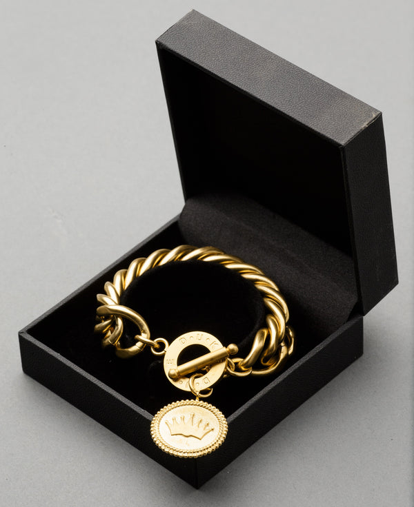 Paris Coin Bracelet by Duke n Co Front View 2