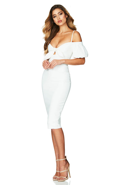 Ivory Belle Midi Dress by Nookie