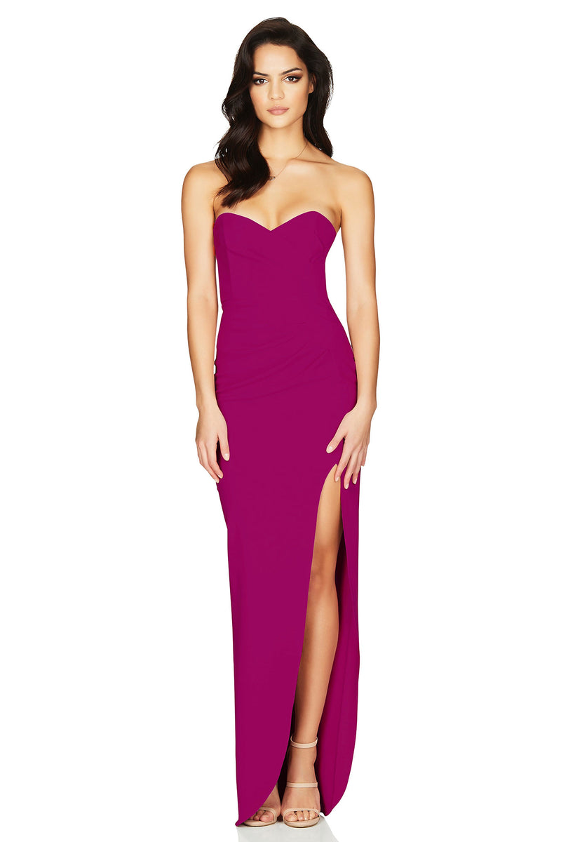 Bisous Gown in Ruby by Nookie