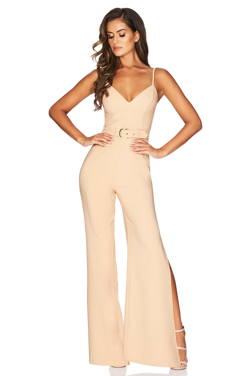 Blake Jumpsuit in Camel by Nookie