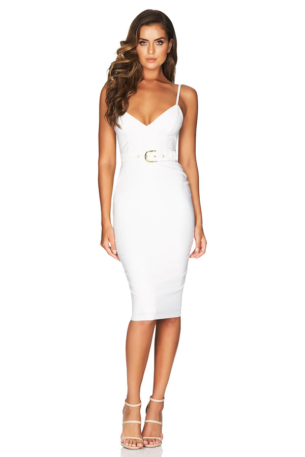 Blake Midi in White by Nookie