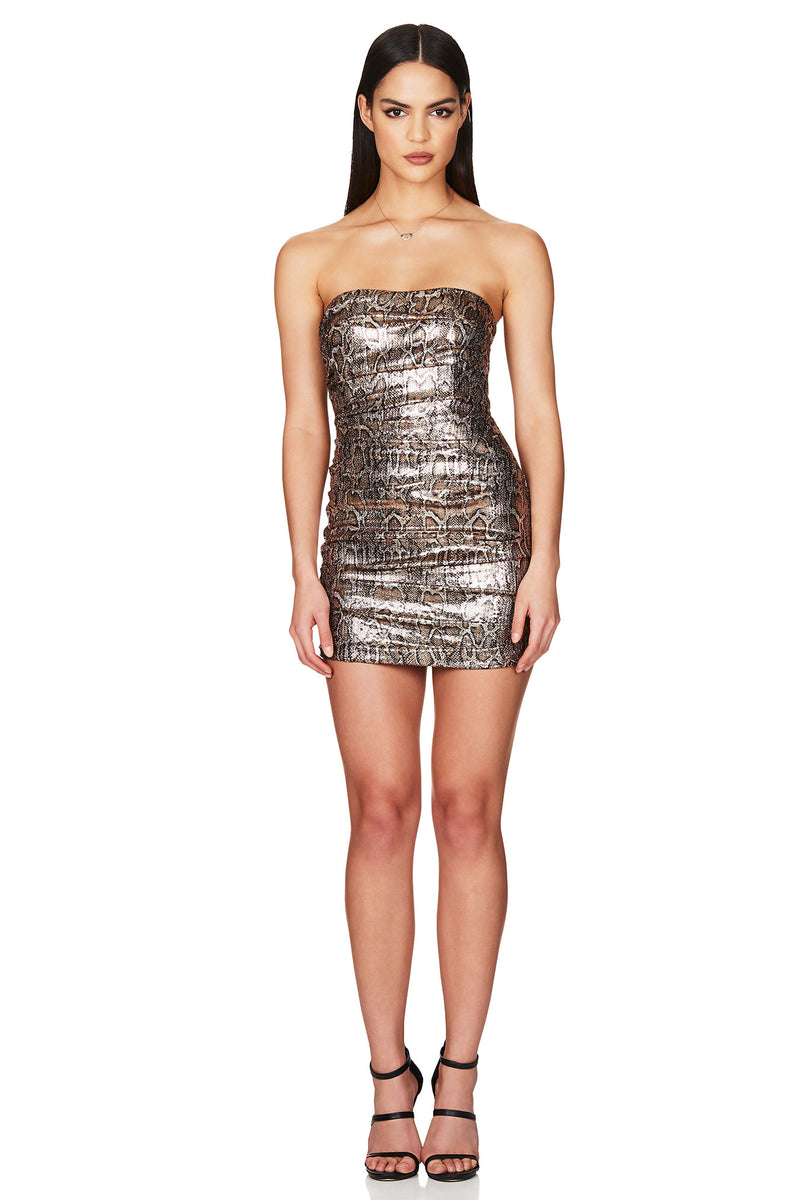 Blind Date Mini Dress in Bronze by Nookie the Australian Label