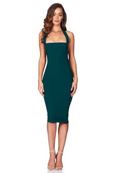 Boulevarde Midi Dress in Teal by Nookie