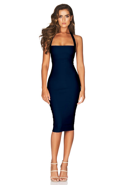 Navy Midi Dress - Boulevarde by Nookie the Label