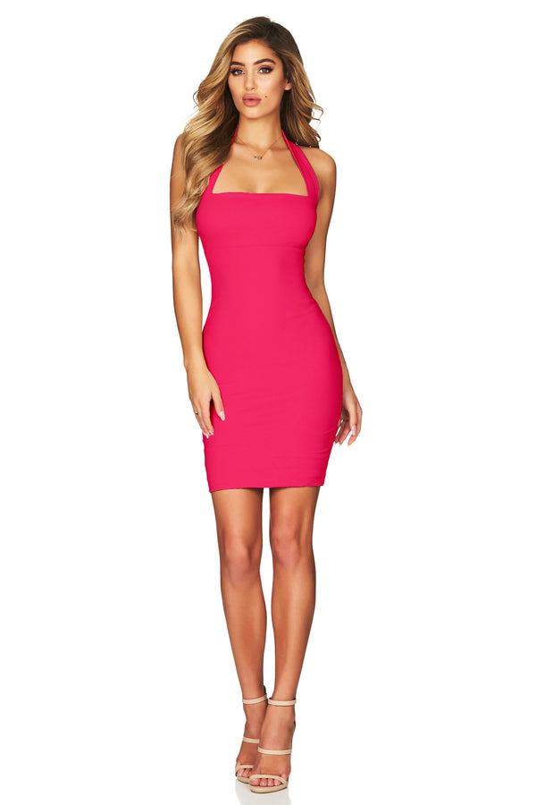 Boulevarde Mini Dress in Hot Pink by Nookie