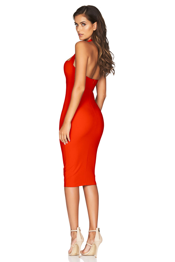 Boulevarde Midi Dress in Tangerine by Nookie