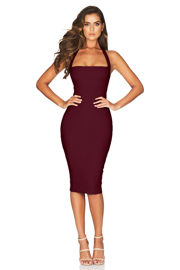 Wine Boulevarde Midi Dress | by Nookie the Label