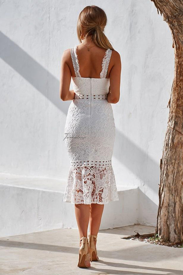 Blair Midi Dress in White by Two Sisters the Label