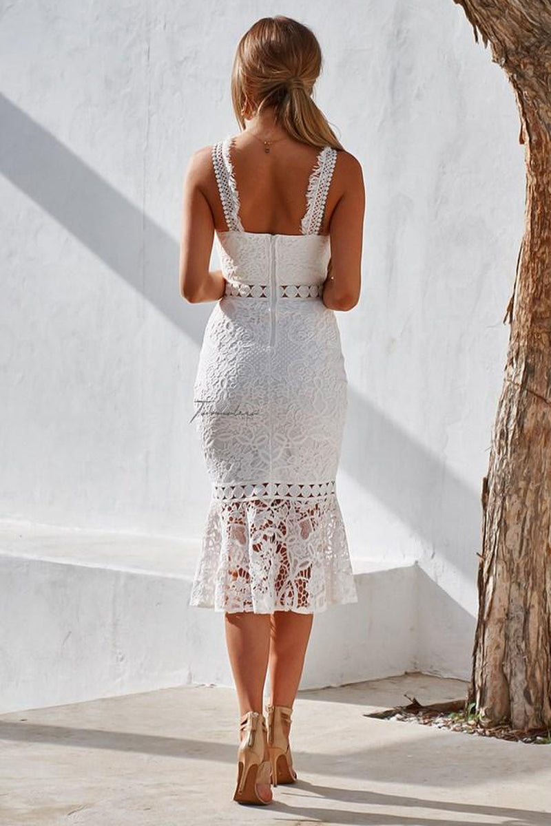 White Blair Midi Dress | Two Sisters the Label