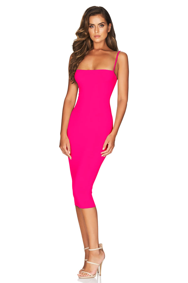 Charlize Strap Midi in Hot Pink by Nookie the Label