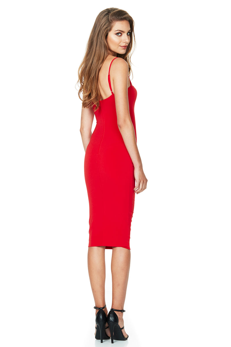 Cherry Charlize Strap Midi Dress | Made in Australia by Nookie the Label